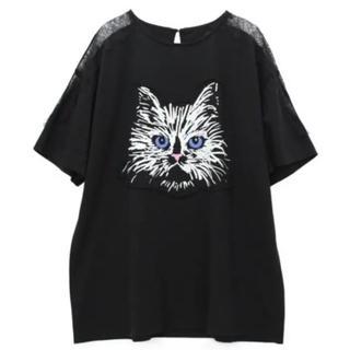アールエヌエー(RNA)のRNA スカラレースコンビビッグT 新品 黒(Tシャツ(半袖/袖なし))