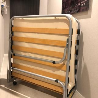 ムジルシリョウヒン(MUJI (無印良品))のes4-のっち様専用 無印良品 折り畳みベッド(簡易ベッド/折りたたみベッド)