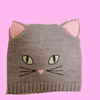エイチアンドエム(H&M)の猫 ネコ ニット帽(ニット帽/ビーニー)