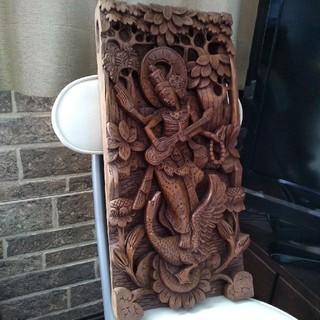 バリ島 アンティーク 木彫りの壁掛け(彫刻/オブジェ)