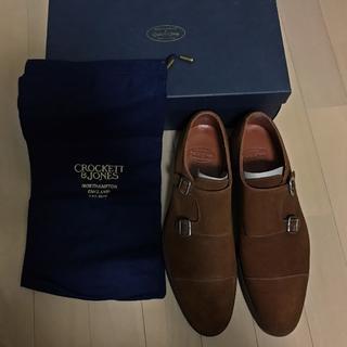 クロケットアンドジョーンズ(Crockett&Jones)の新品 CROCKETT&JONES ダブルモンク 革靴 スエード 定価9万(ドレス/ビジネス)