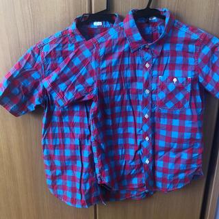 ジーユー(GU)のGUシャツ 150.140センチ お揃いコーデ(Tシャツ/カットソー)