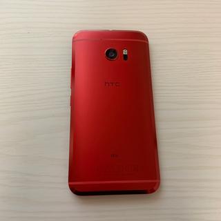 ハリウッドトレーディングカンパニー(HTC)の値下げ交渉可 HTC10 HTV32 au カメリアレッド SIMフリー(スマートフォン本体)