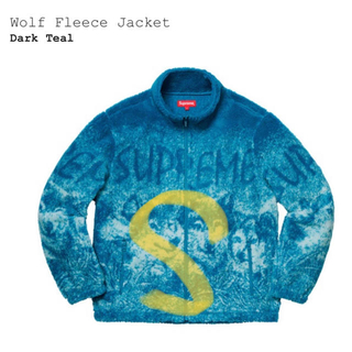 シュプリーム(Supreme)のsupreme wolf fleece jacket blue(その他)