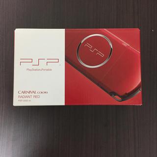 ソニー(SONY)のPSP 新品 未開封 レッド 赤(携帯用ゲーム本体)