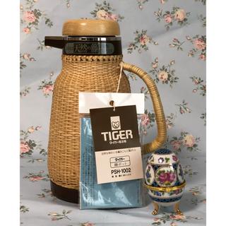 タイガー(TIGER)の【 未使用 】TIGER( タイガー )籐ポット 1.0ℓ PSH-1002(調理道具/製菓道具)