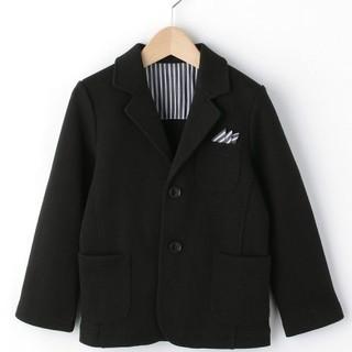 サンカンシオン(3can4on)の黒ジャケット 110センチ ボーイズ 入学式 卒園式 七五三 お受験 結婚式(ドレス/フォーマル)