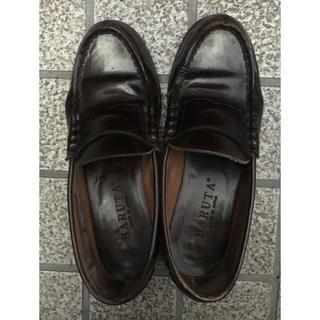 ハルタ(HARUTA)の高校 ローファー 23.5㎝ 茶(ローファー/革靴)