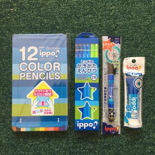 トンボエンピツ(トンボ鉛筆)の色鉛筆、かきかたえんぴつ、なまえペン、スティックのり  トンボ  イッポ(色鉛筆 )