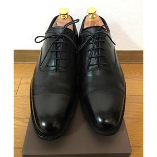クロケットアンドジョーンズ(Crockett&Jones)の美品 ヴィア・ルーチェ ストレートチップ レザーシューズ 25センチ 革靴(ドレス/ビジネス)