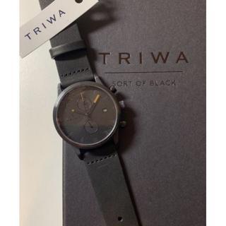 トリワ(TRIWA)の【新品・未使用】TRIWA SORT OF BLACK CHRONO(腕時計(アナログ))