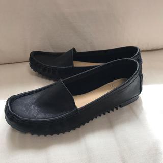 サヤ(SAYA)の新品 SAYAサヤ レザーローファー 黒 23cm (ローファー/革靴)