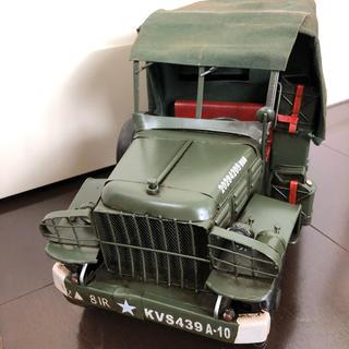 ジープ(Jeep)の【新品】大人の ブリキのおもちゃ❤️米軍仕様ホロ付ジープ★自動車(その他)