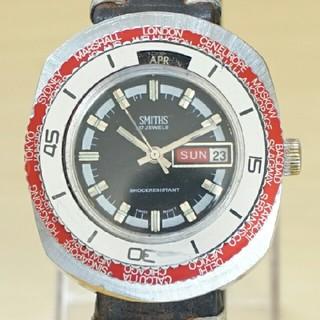 スミス(SMITH)のレア ビンテージ SMITHS 17石 ダイバーズウォッチ 手巻き腕時計(腕時計(アナログ))
