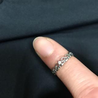 ジュエリーツツミ(JEWELRY TSUTSUMI)のK10WG ダイヤ ピンキーリング サイズ1(リング(指輪))