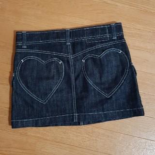 ハコ(haco!)の美品haco nusy jeans☆デニムハートポケットミニスカート☆フェリシモ(ミニスカート)