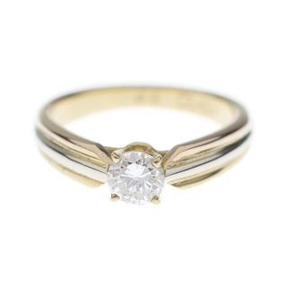 カルティエ(Cartier)のCartierカルティエ3カラートリニティソリテール0,34ctダイヤリング指輪(リング(指輪))