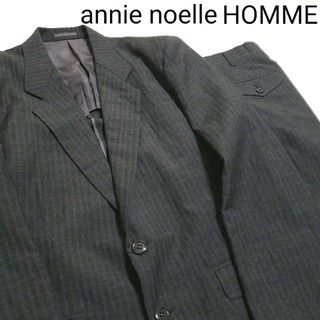 ♤annie noelle HOMME♤メンズスーツセットアップ ウール素材 M(セットアップ)