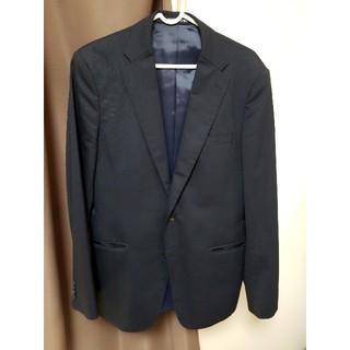 【美品】 スーツ スタイリッシュ 細身 180cm 紺(セットアップ)