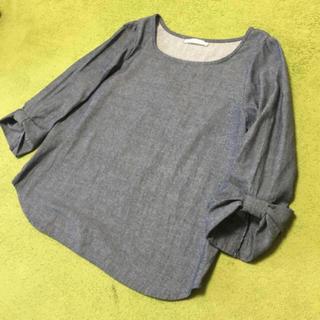 しまむら - リボン袖のトップス