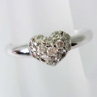 値下げK18WG ダイヤモンド ハート リング 6号[f401-4](リング(指輪))