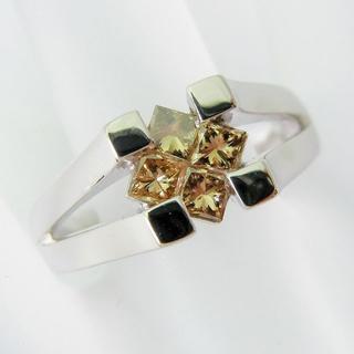 Pt900 ブラウンダイヤモンド リング 15号[f401-9](リング(指輪))