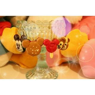 ディズニー(Disney)のディズニーハンドメイド樹脂粘土ピアス(ピアス)
