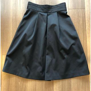 スピックアンドスパンノーブル(Spick and Span Noble)の美品  スピックアンドスパン ノーブル スカート 黒(ひざ丈スカート)