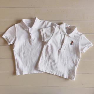 ミキハウス(mikihouse)のポロシャツ白 100 半袖 2枚セット(Tシャツ/カットソー)