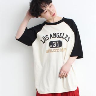 チャイルドウーマン(CHILD WOMAN)のMy Fav. CILD WOMAN  オールドカレッジプリント Tシャツ(カットソー(半袖/袖なし))