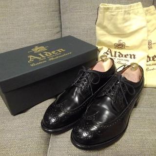 オールデン(Alden)のAlden コードバン ウィングチップ モディファイド 7.5D 黒(ドレス/ビジネス)