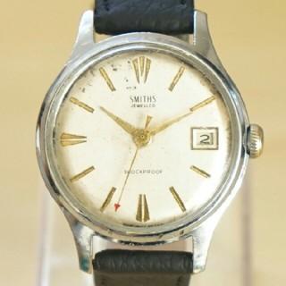 スミス(SMITH)のジャンク品ビンテージ 英国製 SMITHS 5石 手巻き腕時計 アンティーク(腕時計(アナログ))