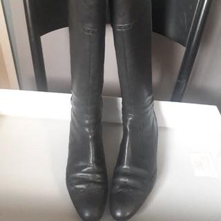 エレガンスヒミコ(elegance卑弥呼)の【良好】 Elegance卑弥呼 靴 ロングブーツ 23 レザー 黒 (ブーツ)