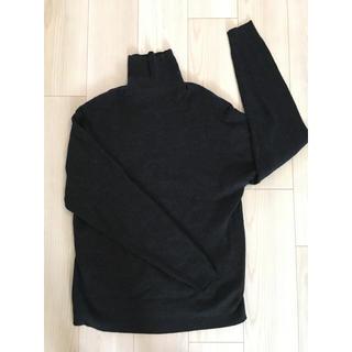 ムジルシリョウヒン(MUJI (無印良品))のタートル グレー 無印良品 メンズ XLサイズ(ニット/セーター)