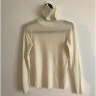 ムジルシリョウヒン(MUJI (無印良品))の無印 リブニット 美品 タートルネック(ニット/セーター)