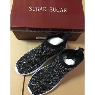 シュガーシュガー(Sugar Sugar)のsugar sugar 軽量底 スリッポンシューズ  24センチ(スリッポン/モカシン)