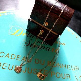 オーロラグラン(AURORA GRAN)のオーロラグラン*̣̩⋆̩K10 ブラウンダイヤ ロシオ ラウンド ネックレス (ネックレス)