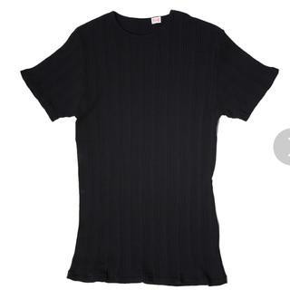 ロンハーマン(Ron Herman)の新品 ヤングアンドオルセン ランダムリブTシャツ  ブラック(Tシャツ(半袖/袖なし))