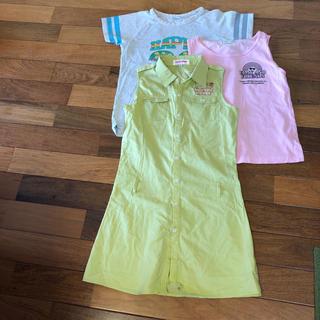 ケーエルシー(KLC)のワンピース、Tシャツ二枚の3枚セット(Tシャツ/カットソー)