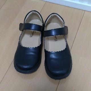 シマムラ(しまむら)の黒のフォーマルシューズ 子供 19cm(フォーマルシューズ)