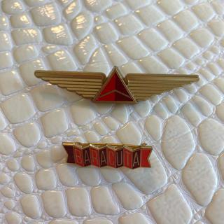デルタ(DELTA)の【非売品】デルタ航空❤️ピンバッチ 2個セット(バッジ/ピンバッジ)