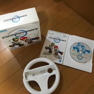 Wii - Wii  マリオカートハンドル付き