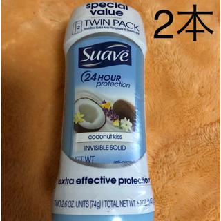 スアーヴ(Suave)のSuave スアーヴ   デオドラントスティック ココナッツ 2本セット(制汗/デオドラント剤)