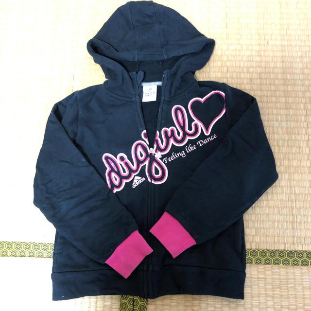 adidas(アディダス)のadidas パーカー キッズ/ベビー/マタニティのキッズ服 女の子用(90cm~)(ジャケット/上着)の商品写真