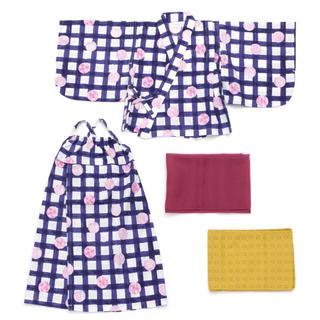 アンパサンド(ampersand)の新品 ampersand アンパサンド 浴衣 90㎝ キッズ 子供 女の子(甚平/浴衣)
