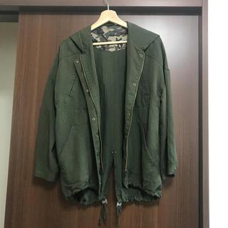 ジーユー(GU)のカーキ春服パーカジャケット💓美品(スプリングコート)