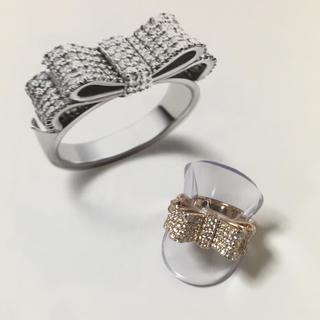 ポンテヴェキオ(PonteVecchio)のポンテヴェキオ   K18PG ダイヤモンド リボンリング 13号 (リング(指輪))
