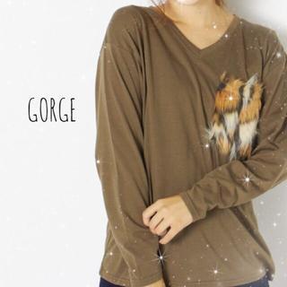 ゴージ(GORGE)のGORGE ファーポケット Tシャツ(Tシャツ(長袖/七分))