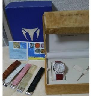 テクノマリーン(TechnoMarine)の正規品テクノマリーンクロノグラフダイヤベゼル 純正替えベルト5本付き 稼働中美品(腕時計(アナログ))