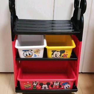 ディズニー(Disney)のおもちゃ箱 収納 ストレージ ボックス ラック(棚/ラック/タンス)